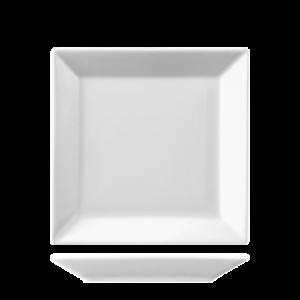 Bord Vierkant vlak 21 cm
