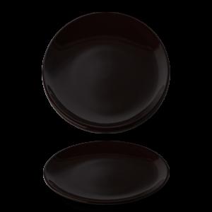 Bord vlak 27 cm Black