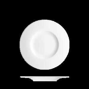 Bord vlak met brede rand 17 cm