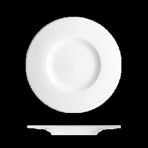 Bord vlak met brede rand 22 cm