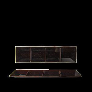 Schaal Rechth 45×12 cm verdeeld